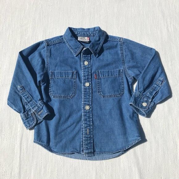 Levi's Other - Levi's Jeans Button Down Denim Shirt Size 4T